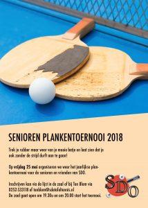 Plankentoernooi Senioren @ SDO tafeltennis